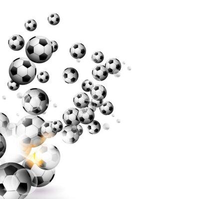Sticker Balle de soccer isolé sur un fond blanc