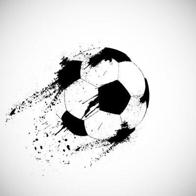 Sticker ballon de football grunge
