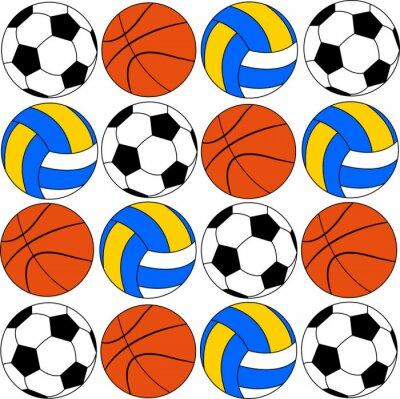 Sticker Ballons, icônes, footballs, volleyballs