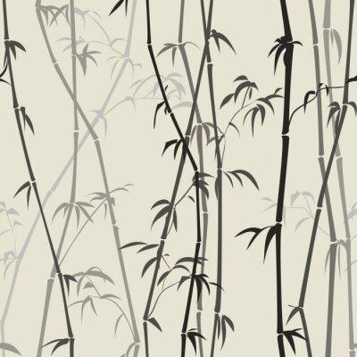Sticker Bamboo background
