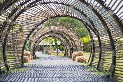 Sticker Bambou, tunnel, structure, jardin