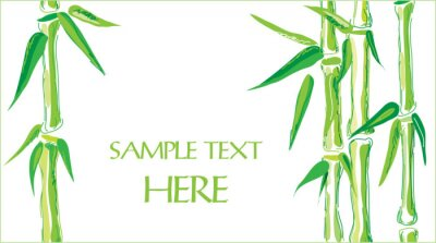 Sticker bambou vecteur de fond