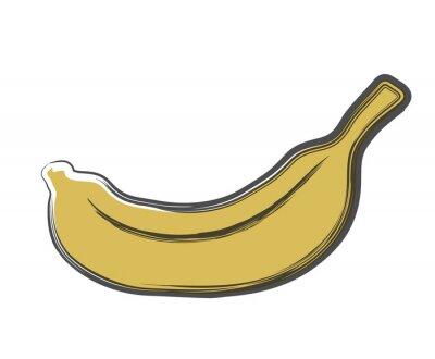 Sticker banane doodle