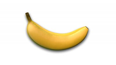 Sticker Banane, fruit tropical, isolé, blanc, fond, côté, vue