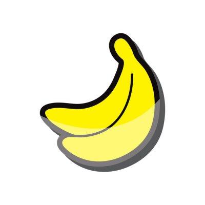 Sticker Banane icône vecteur eps 10