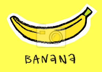 Banane, jaune, fond