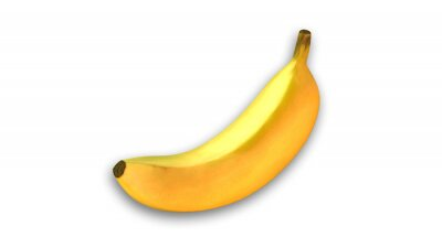 Sticker Banane jaune, fruits isolé sur fond blanc