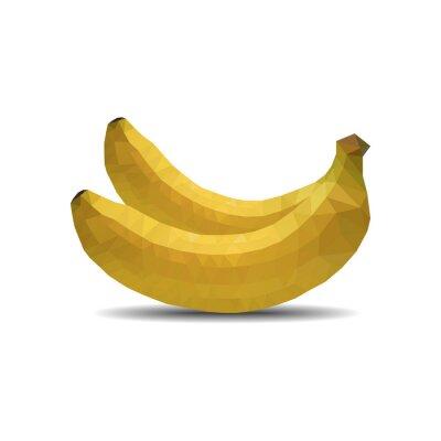 Sticker Banane polygone isolé vecteur Illustration eps 10