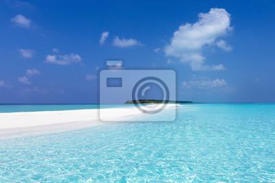 Sticker Banc de sable maldivien dans l'océan Indien