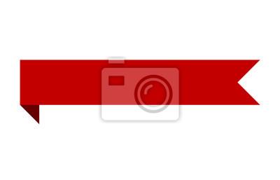 Sticker Bande de ruban rouge à motif plié pour impression et sites Web