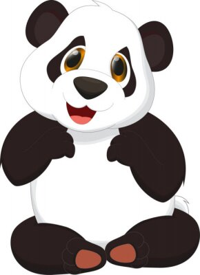 Sticker bande dessinée mignonne de panda