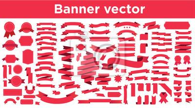 Sticker Banner vector icon set