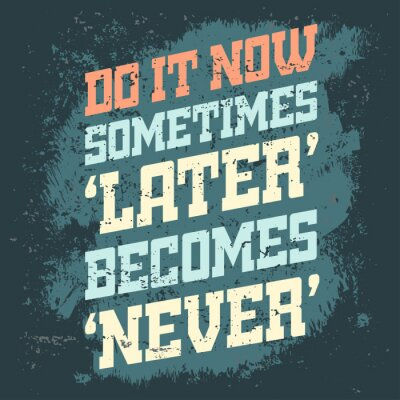 Sticker Bannière de citation de motivation
