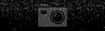 Sticker Bannière de flocons de neige tombant. Illustration de neige de l'hiver