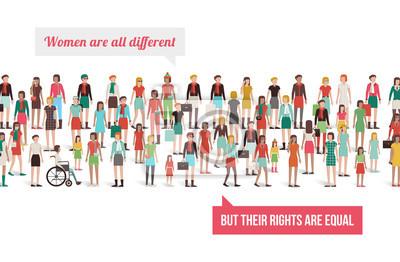 Bannière des droits des femmes