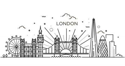 Sticker Bannière linéaire de la ville londonienne.
