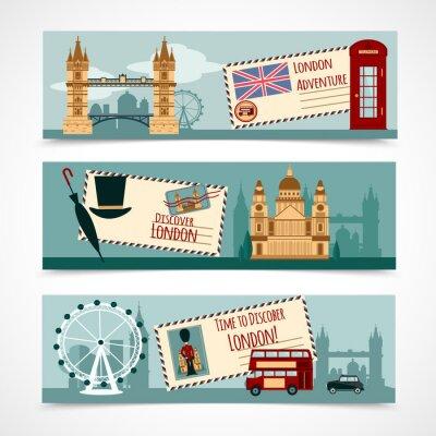 Sticker Bannière Touristique de Londres