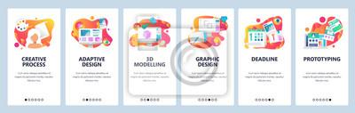 Sticker Bannières de menus pour le développement de sites Web et d'applications mobiles. Design moderne