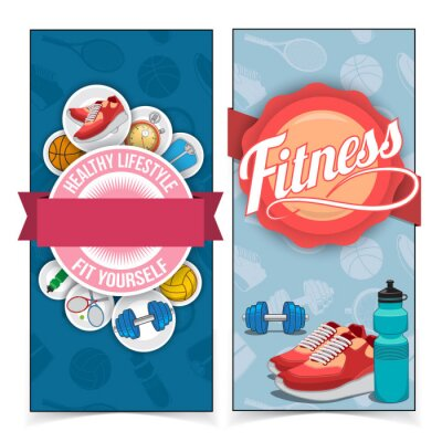 Sticker Bannières de vie active.