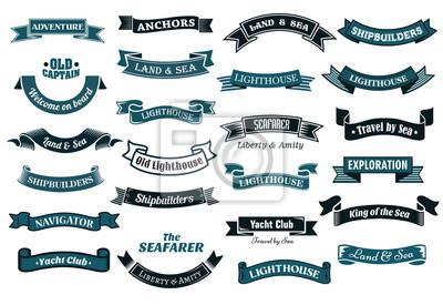 Sticker Bannières thématiques nautiques