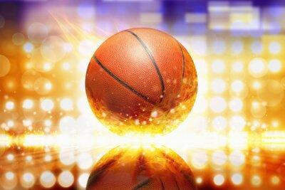 Sticker basket-ball brûlant