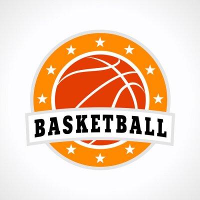 Sticker Basket-ball emblème logo
