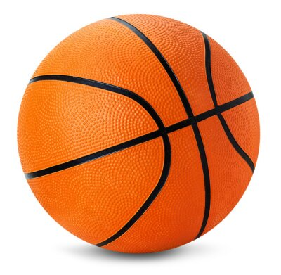 Sticker basket ball isolé sur le fond blanc