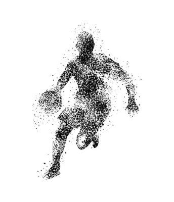 Sticker Basket-ball, joueur, silhouette