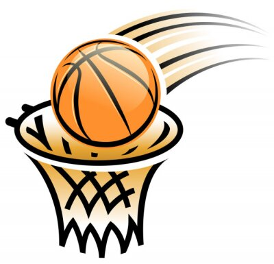 Sticker basket symbole de cerceau