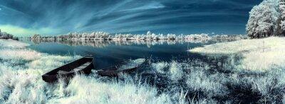 Sticker bateaux sur le fleuve