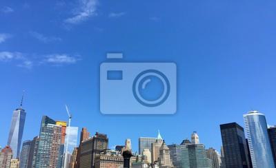 Bâtiment, nouveau, York, bleu, ciel