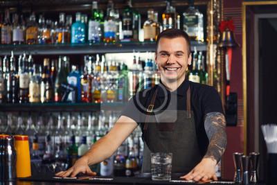 Sticker Beau barman élégant
