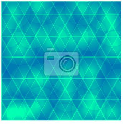 Beau, bleu, fond, triangle, cercles