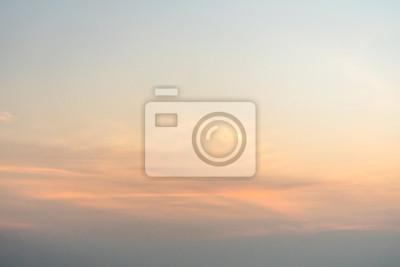 Sticker Beau bleu le ciel pendant l'aube