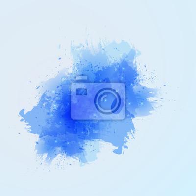 Beau, bleu, pinceau, coups, blanc, fond