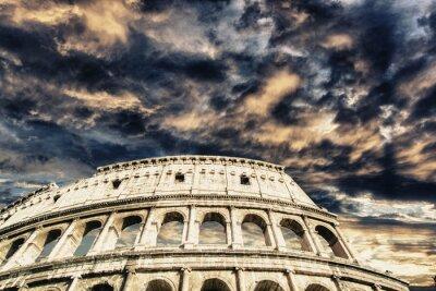 Sticker Beau ciel au-dessus de Colisée à Rome