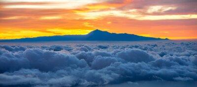 Sticker Beau, cloudscape, Tenerife, île, fond, sunrise, espagne