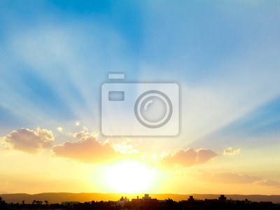 Sticker Beau coucher du soleil