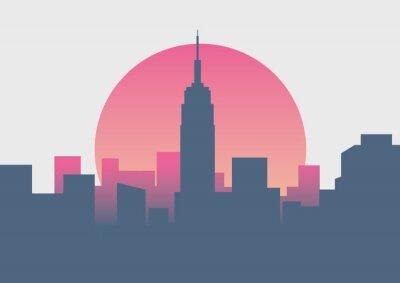 Sticker Beau lever de soleil à New York
