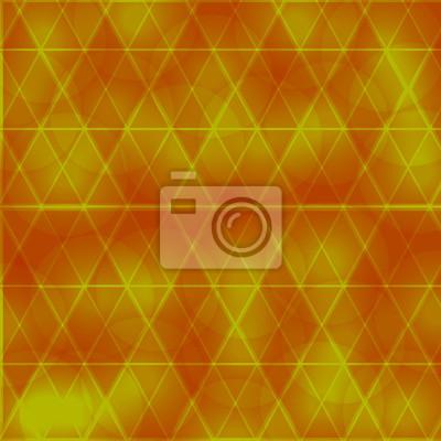 Beau, orange, fond, cercles, triangle
