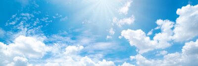 Sticker Beautiful blue sky cloudsfor background. Panorama of sky.