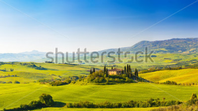 Sticker Beautiful landscape in Tuscany, Italy