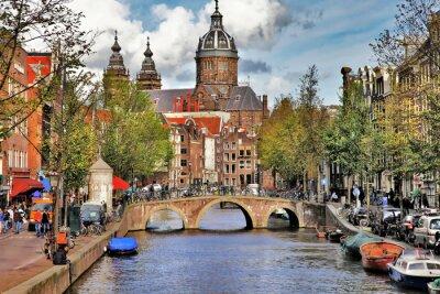 Sticker beaux canaux d'Amsterdam