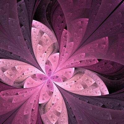 Sticker Belle diagonale fractale fleur ou papillon en vitrail