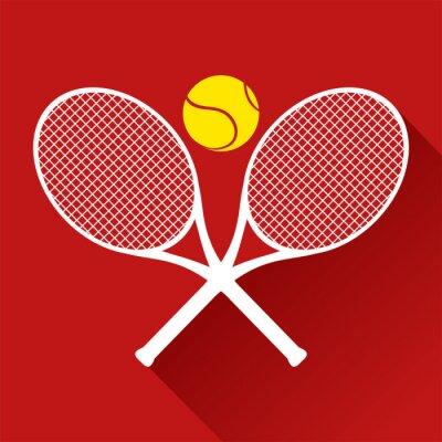 Sticker Belle icône de tennis