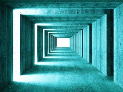 Sticker belle image de 3d concretet tunnel abstrait