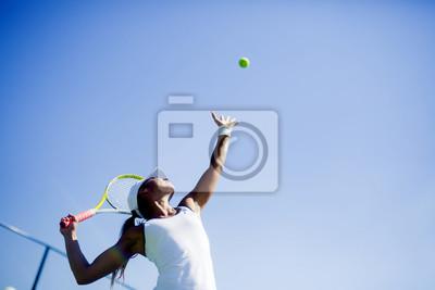Sticker Belle joueuse de tennis portion