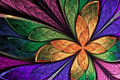 Sticker Belle, multicoloured, fractal, fleur, ou, papillon, taché, gl