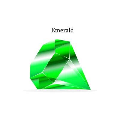 Belle pierre verte émeraude