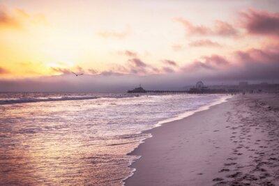 Sticker Belle plage de coucher de soleil sur